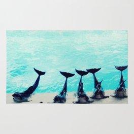 Spectacular Dolphin Show Rug