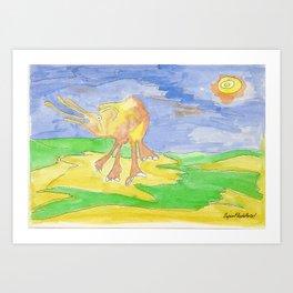 Mi elefante amarillo. Art Print