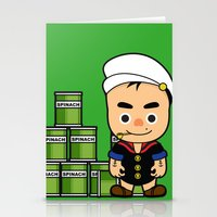 popeye Stationery Cards featuring Popeye  by Jefferson Ng