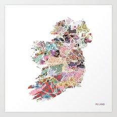 Ireland map Art Print