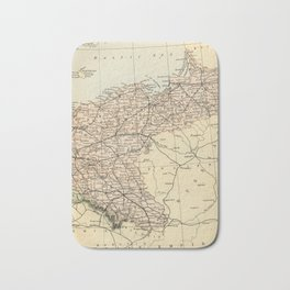 Old Map of Germany Bath Mat