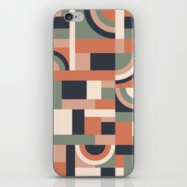 Earth Tones Blocks #society6 #pattern iPhone Skin