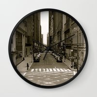 """fifth element Wall Clocks featuring """"fifth ave"""" by PISTOLdaisie"""