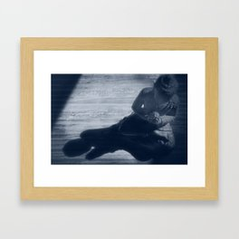 buddha monochrome Framed Art Print