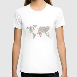 Diamonds World Map #3 T-shirt