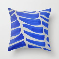 Royal blue Stripes pattern Throw Pillow