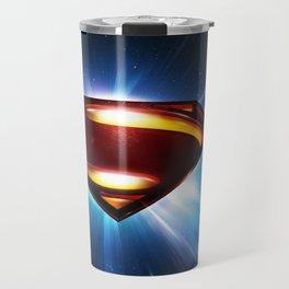 Man of Steel Logo Travel Mug