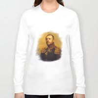 replaceface Long Sleeve T-shirts featuring Simon Pegg - replaceface by replaceface