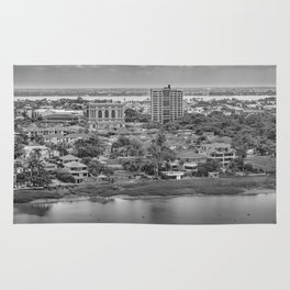 Guayaquil Aerial View from Window Plane Rug