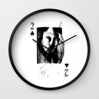 card Wall Clocks featuring Card by AMPHOTO ArtPrint