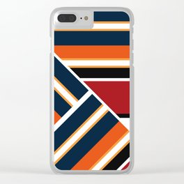 Retro . Combined stripes . Clear iPhone Case