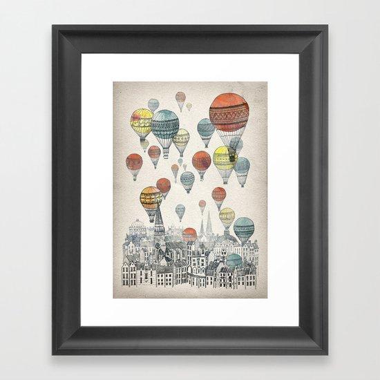 Voyages over Edinburgh Framed Art Print