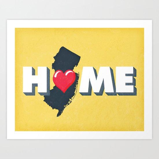 NJ is Home Art Print