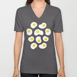 Cute Fried Eggs Pattern Unisex V-Neck