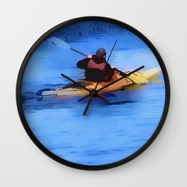 The Explorer    -   Kayaker Wall Clock