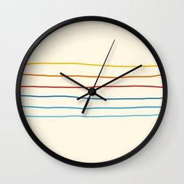 Abstract Retro Stripes #1 Wall Clock