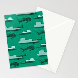 Whale Shark Green #nautical #whaleshark Stationery Cards
