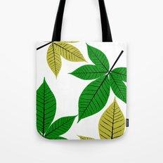 Horse Chestnut Leaves Tote Bag