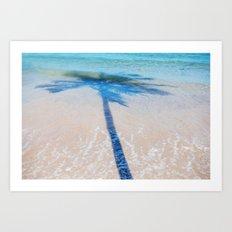 TREE IN SEA Art Print