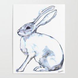 Hare on alert Poster