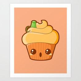Spooky Cupcake - Pumpkin Art Print