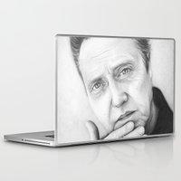 christopher walken Laptop & iPad Skins featuring Christopher Walken Portrait by Olechka