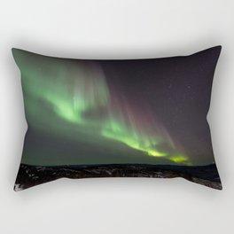 Northern Lights In the Alaskan Sky Full Of Stars Rectangular Pillow