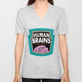 Human Brains Unisex V-Neck