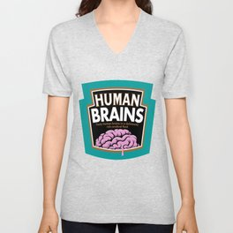 Human Brains Unisex V-Neck