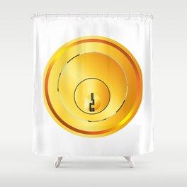Brass Front Door Lock Shower Curtain