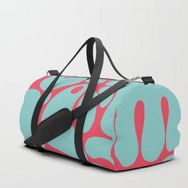 teal & red blobs Duffle Bag