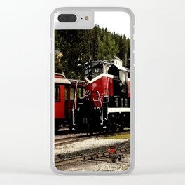 Black Hills Diesel Locmotive # 63 Abstract Clear iPhone Case