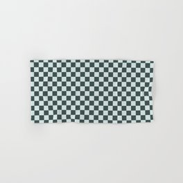 Checkerboard Pattern Inspired By Night Watch PPG1145-7 & Cave Pearl PPG1145-3 Hand & Bath Towel