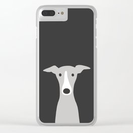 Cute Greyhound / Italian Greyhound Clear iPhone Case