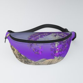 tree and violet horizon Fanny Pack