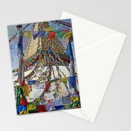 NEPALI PRAYERS CARRIED BY THE WIND FROM FLAGS Stationery Cards