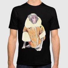 The Stylish Monkey Mens Fitted Tee MEDIUM Black