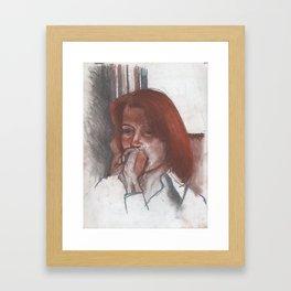 Portrait of Linda Landry Framed Art Print