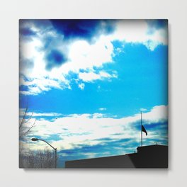 The Flag in Mourning Metal Print