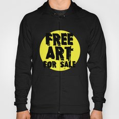 Free Art for Sale (yellow) Hoody