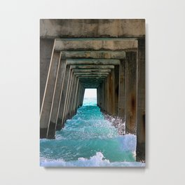 Juno Beach Ocean Pier Metal Print