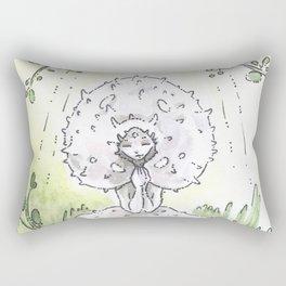 Empire of Mushrooms: Lycoperdon perlatum Rectangular Pillow