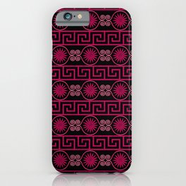 Ornate Greek Bands in Pink iPhone Case