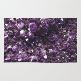 Amethyst Crystal Photography Rug