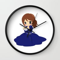 ouat Wall Clocks featuring OUAT - Belle by Choco-Minto