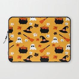 Happy halloween pots, ghosts and brooms Laptop Sleeve