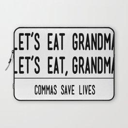 Let's Eat Grandma - Commas Save Lives Laptop Sleeve