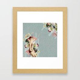 Feminine Collage III Framed Art Print
