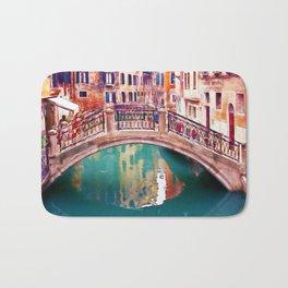Small Bridge in Venice Bath Mat