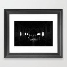 Night prayer Framed Art Print
